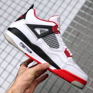 """Air Jordan 4 """"Fire Red"""" White and Red Reissue"""